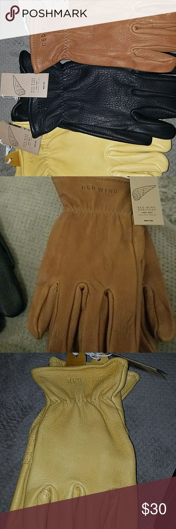 Red wing leather gloves Super nice leather gloves unisex Red Wing Shoes Accessories Gloves