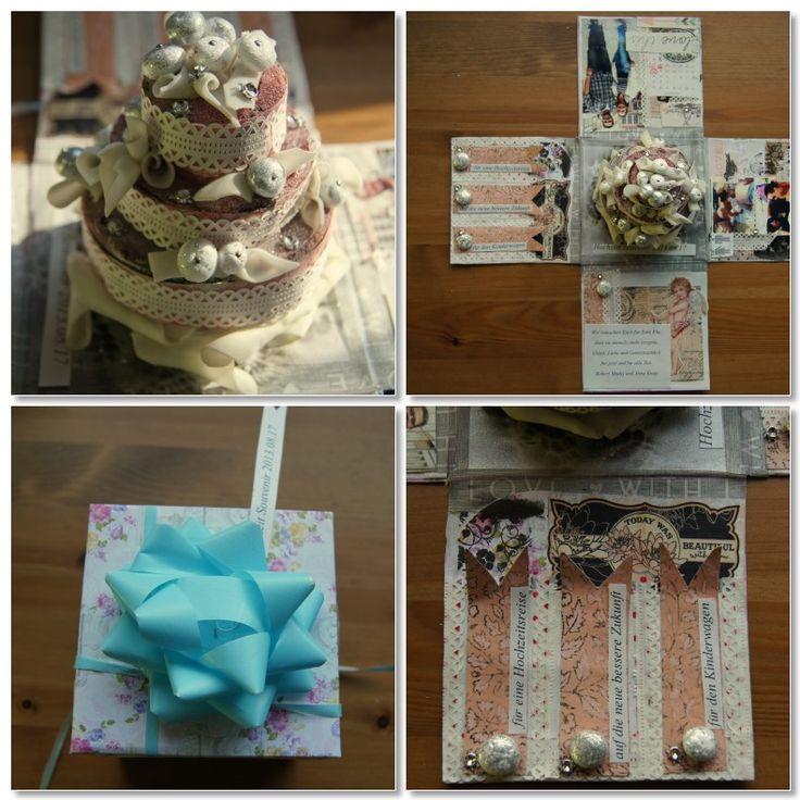 Exploding gift box for wedding