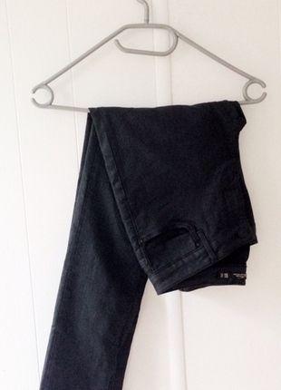 #Spodnie #ZARA #rurki #czarne #skórkowe