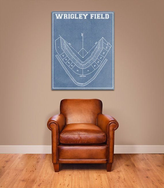 Vintage Print of Wrigley Field Seating Chart by ClavinInc on Etsy
