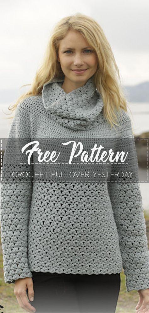 Crochet Pullover Yesterday – Free Pattern – Free Crochet