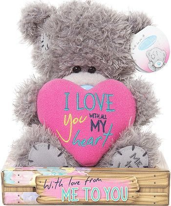 Me to You Love You Tatty Teddy with Pink Heart