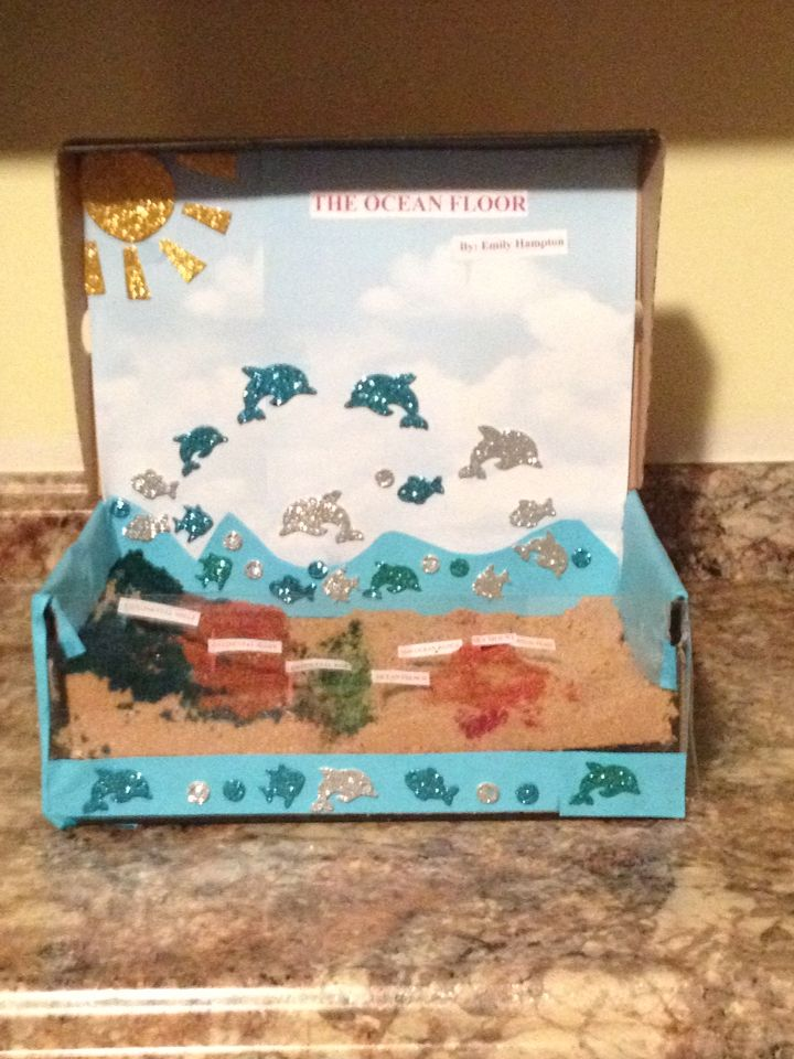 A Ocean Floor Project Made Out Of Brown Sugar