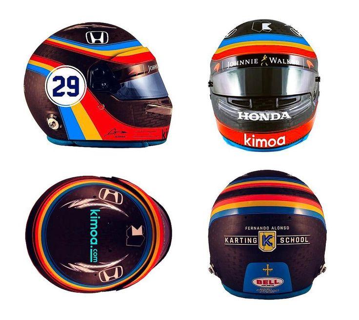 Capacete Alonso Indy 500 (Foto: Reprodução)