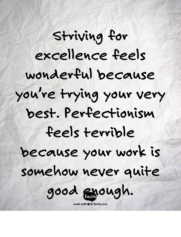 "Excellence versus Perfectionism  ~ Quote by Marcia McCay from ""The Top 3 Fears Sabotaging Your Writing (And the Solutions)"