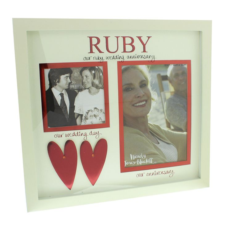 Unusual Ruby Wedding Anniversary Gifts For Parents : Anniversary Gifts on Pinterest Wedding anniversary photos, Ruby ...