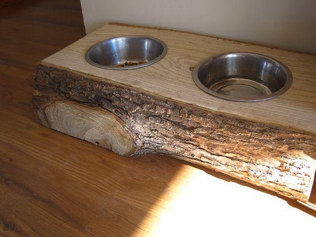 """""""Raised Dog Bowl Feeder""""  I love this.  Unique."""