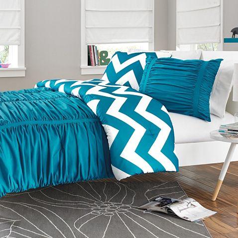 Reagan Reversible Comforter Set In Peacock Blue 49 99
