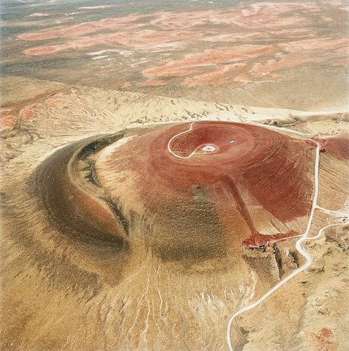 Roden Crater, on Turrell's ranch outside Flagstaff, Arizona.