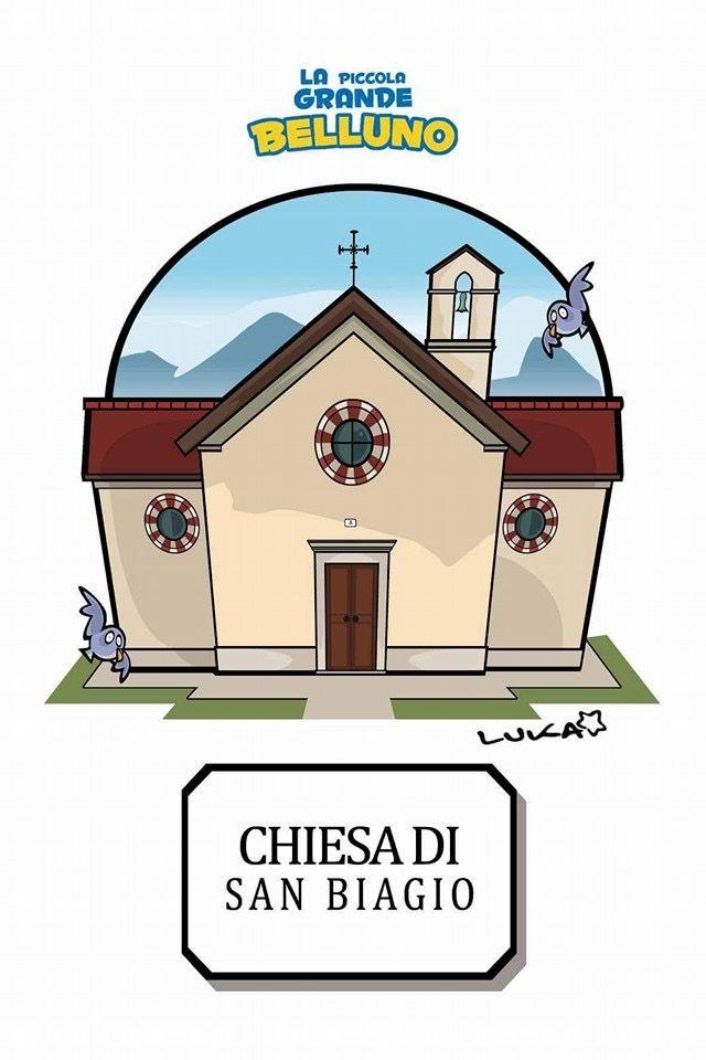 Chiesa di San Biagio Belluno Dolomiti Veneto Italia by Luca Stella
