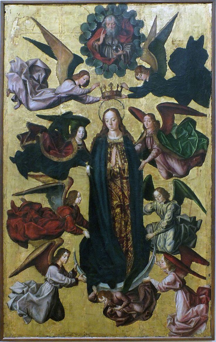 rt from Spain - Pedro Berruguete (Paredes de Nava, Palencia, 1450 - 1503), fue un pintor español, situado en la transición del estilo Gótico a la pintura renacentista. Tras su formación, con Fernando Gallego en Salamanca, habría viajado muy joven a Italia, donde trabajo bajo el mecenazgo del duque de Urbino. Fue padre de uno de los artistas más destacados del Renacimiento hispano, Alonso Berruguete. - Coronación de la Virgen, circa 1470.