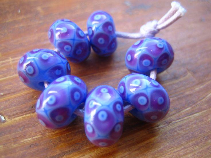 periwinkle batik lampwork beads sra uk seller pinned by pin4etsycom