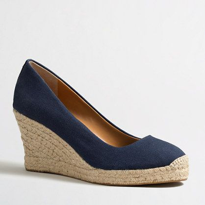 J.Crew Factory - Factory canvas espadrille wedges