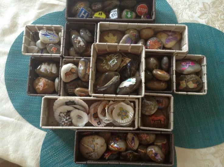 Kerryation Education: Story telling stones for group storytelling and sentence/storywriting starters