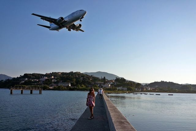 Kanoni - the sea paradise where the planes fly really close to you