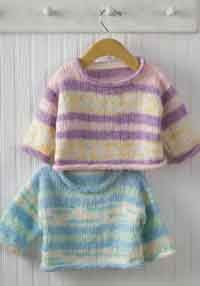 free pattern...Easy Baby Pullover Sweater