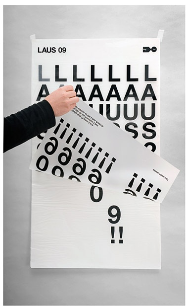 Poster for Laus 09 (design awards) by Eduardo del Fraile.