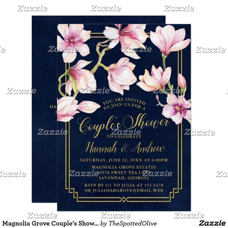 Magnolia Grove Coupleu0027s Shower Card Floral