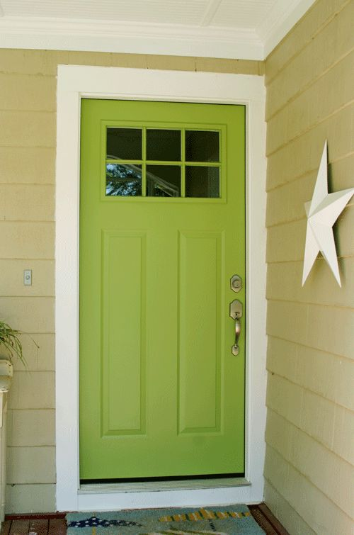Apple Slice Green Front Door (and how-to). And we've got the Barn Stars! Here's a link: http://www.outerbankscountrystore.com/servlet/the-171/barn-stars-cream-shabby/Detail