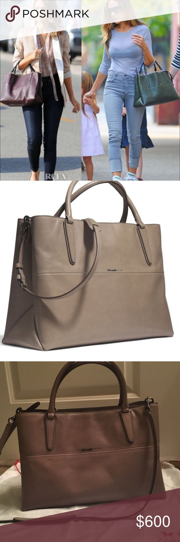 Coach Borough bag Much adored by celebrities the Coach Borough bag has classic Coach style and very versatile. Selling for $500 will reduce price to allow for reduced shipping if available Coach Bags
