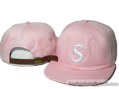 Supreme Strapback Hats Caps S Logo Adjustable Hats Pink