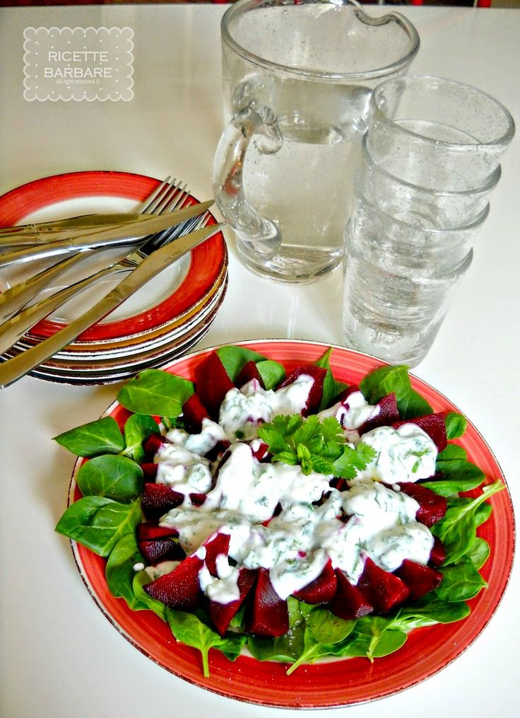 Ricette Barbare: Insalata di spinaci novelli e barbabietole or Baby spinach and beetroot salad