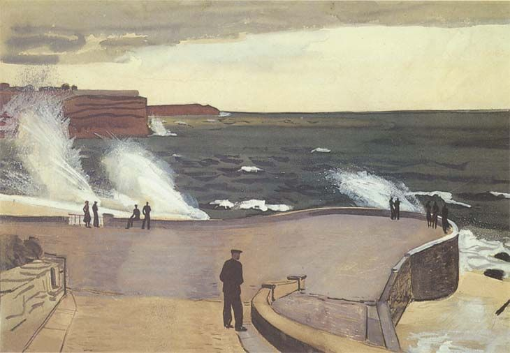 Alexander Deineka - Sevastopol, at Pier, 1934