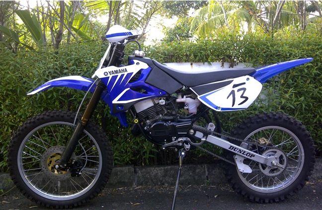 Modifikasi Motor Yamaha RX King tahun 1983 menjadi Motor Trail | Jogja ...