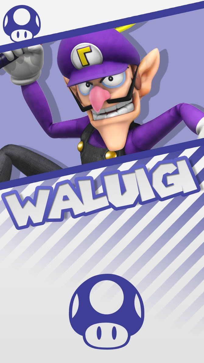 Waluigi Super Mario Phone Wallpaper by MrThatKidAlex24 | Aidan's