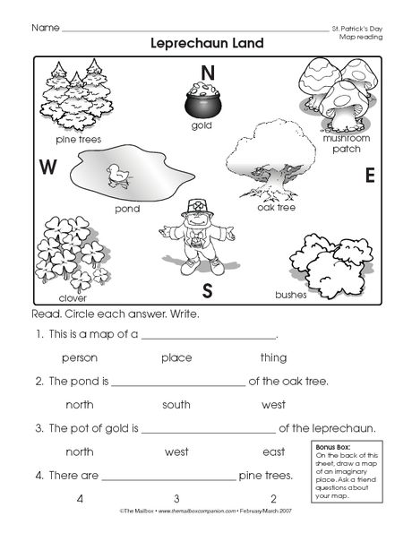 Reading a Map Worksheet (Easy and free to click and print!)