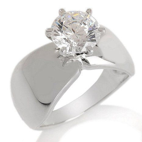 2ct Absolute™ Wide Band Solitaire Ring