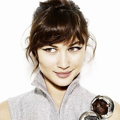 wispy half moon bangs for thick hair                                                                                                                                                     More