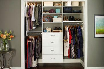 ReachIn Closet Organizers White contemporary closet