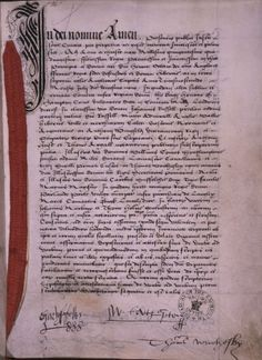 """THE MARRIAGE OF HENRY VIII & ANNE OF CLEVES: Henry VIII felt that he had been deceived because, in addition to Anne not being able to speak much English, her upbringing had been so conservative that she was ignorant of """"the facts of life"""", and their wedding night was a complete disaster. Henry filed for an annulment on the grounds that the marriage had not been consummated. This letter from Henry to Anne (E 30/1472/3) preceded the application for divorce."""