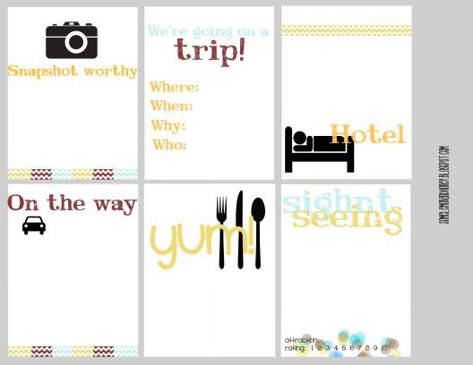 Lemon & Honey: Project Life Freebie, Travel