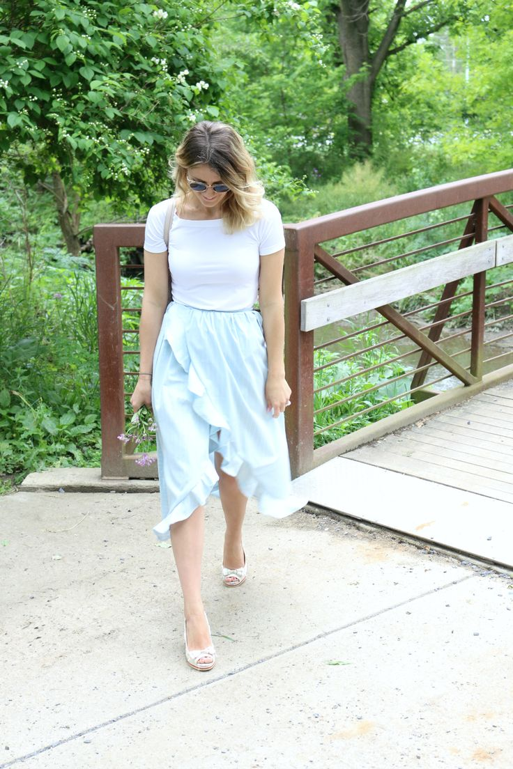 eyeful of lovely: Ruffled and Striped Wrap-Skirt Tutorial (& Best Way to Shop for Sunglasses!)