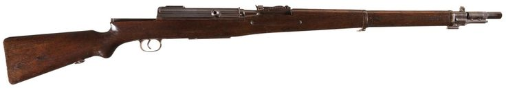 """General Liu's 'Hanyang Arsenal' selfloading rifle    Manufactured by Pratt & Whitney Tool Company in Hartford, Connecticut c.1914-15 as a sample from the tooling they were selling to the designer of the gun, the Chinese general Qing En Liu - no serial number.  7,92mm Mauser 6-round internal box magazine, gas-trap semi automatic or manual straight pull bolt action, manual safety, marked """"made by the Hanyang Arsenal""""."""