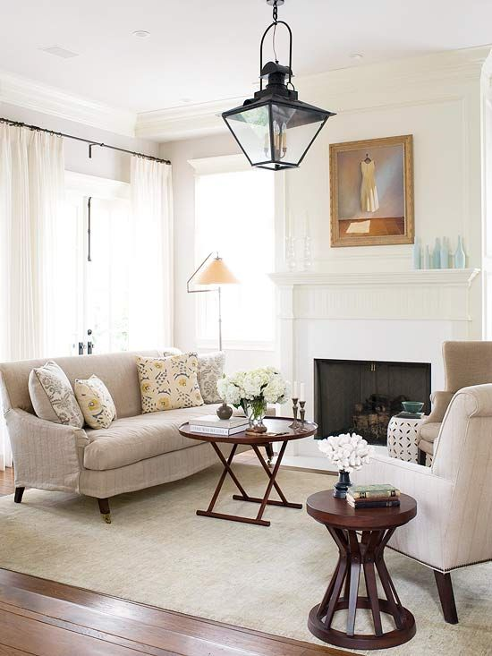 One of the most inexpensive and effective ways to freshen a room is through lighting.