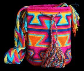 PINK WAYUU BAG – COLORFUL DESIGN #4  #Handbags #crochetPatterns #backpack #boho #fashion #Mochila #Bolsa #Yoga #Crochet #Knit #yarn #moda #mode #handbag #streetstyle #bucketbag #LaGuajira #crochet #bagbeach #style #artesanias #indigenous #wayuupeopple