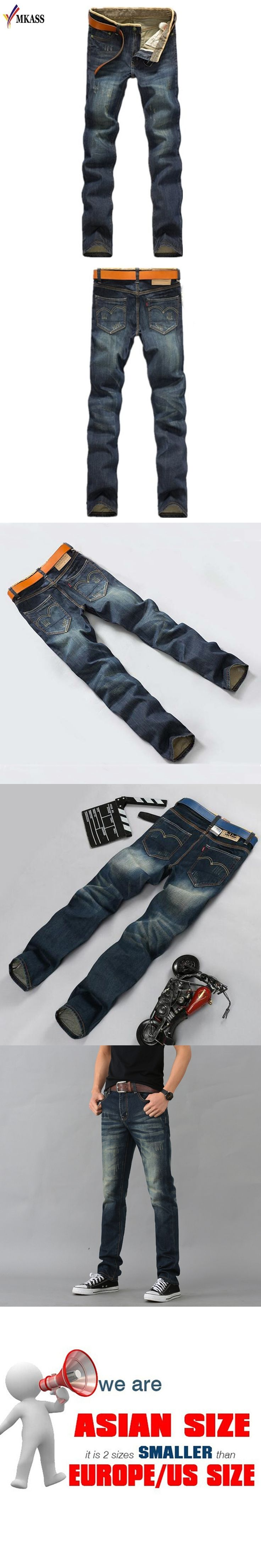 2017 Fashion Cotton Straight Thin Models Europe And America Men Jeans Classic New Denim Jeans Young Long Jeans Men