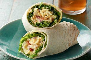 "Egg Salad ""BLT"" Wraps recipe #lunch #backtoschool"