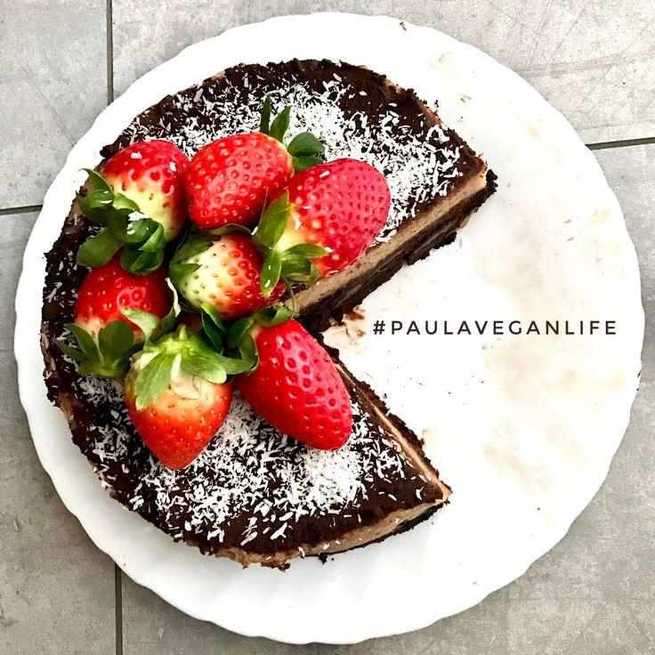 Tarta Vegana de Plátano y Brownie *** Banana Brownie Vegan Cake