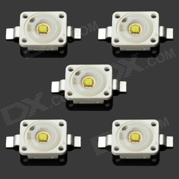 OSRAM DIY 1W 110LM 6500K White Light LED (5 PCS). Material: Copper + silicone - Power: 1W - Color BIN: White - Input Voltage: 3.2~3.6V - Input Current: 300~350mA - Color Temperature: 6000~6500K - Luminous Flux: 100~110LM - Comes with 5 OSRAM LEDs per pack. Tags: #Lights #Lighting #Bulbs #and #Strips #LED #Bulb #Parts #Leds