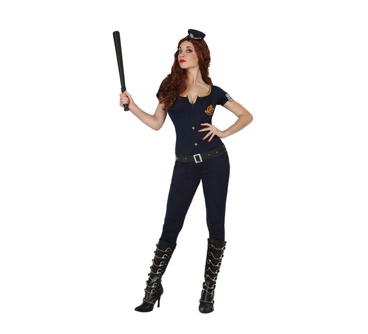#Disfraz para mujer de #Policía #sexy. Disponible en varias tallas. Incluye mono, cinturón y placa del brazo.  #Orgullo #OrgulloGay #OrgulloLGTB #OrgulloMadrid