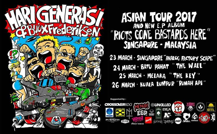 Asian Tour 2017 and New E.P Album Hari Generasi and Buux Frederiksen