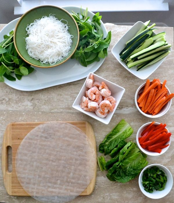 Vietnamese Spring Rolls- the rolling station for this fun recipe! | www.thefreshfind.com