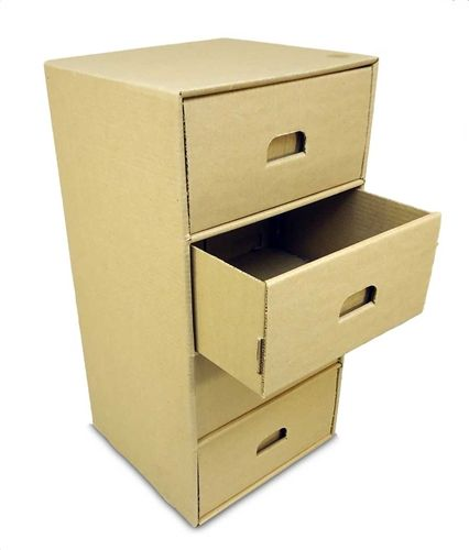 how to build a dresser out of cardboard