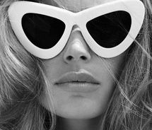 60s: Shades, Fashion, Doutzenkroes, Cat Eye, Style, Cateye, Sunglasses, Doutzen Kroes, White Cat