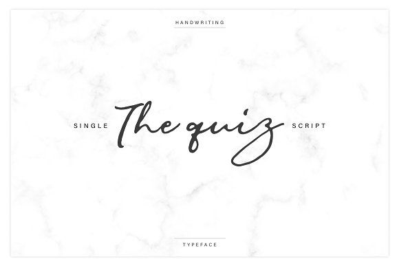 The Quiz Script by Saffatin on @creativemarket #really #handwriting #font
