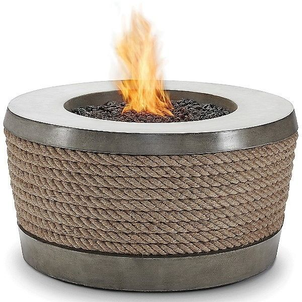 Brown Jordan Fires Loop Fire Table ($3,980) ❤ liked on Polyvore featuring home, outdoors, patio furniture, outdoor tables, grey, gray outdoor furniture, cement outdoor furniture, outdoor patio table, grey outdoor furniture and concrete patio furniture